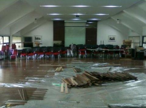 Pemasangan Lantai kayu ITB