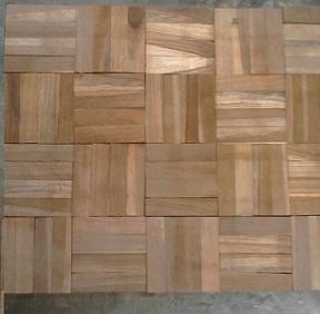 lantai kayu murah Mozaik jati