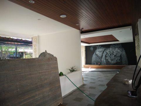 Plafon kayu Kubu Anyar Bali