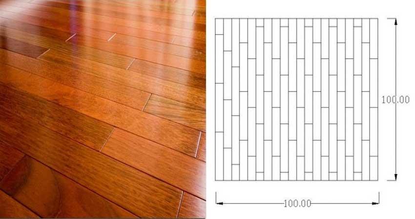 pola pemasangan lantai kayu motif susun bata