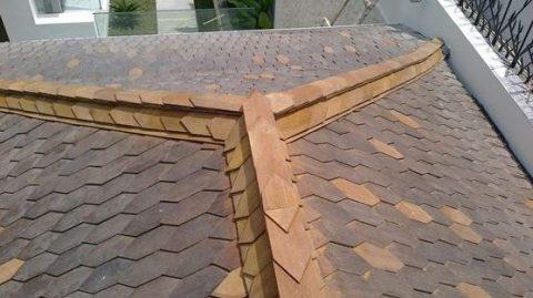 harga atap sirap kayu Ulin kalimantan