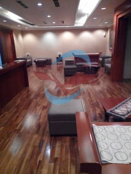 lantai kayu jati ruang tamu grade B