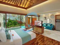 lantai kayu Jati di kamar tidur