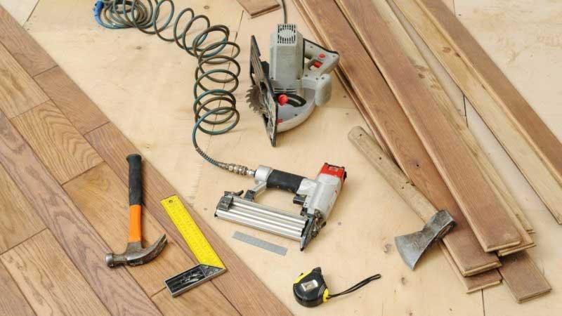 peralatan untuk pemasangan lantai kayu laminated