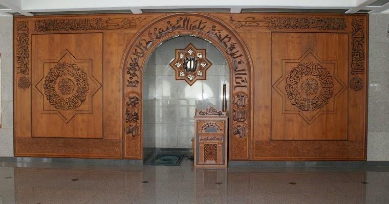 dinding kayu parket untuk mesjid