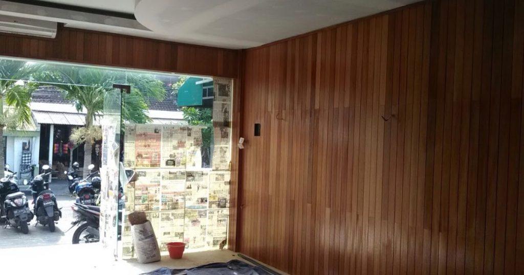dinding kayu parket untuk kantor