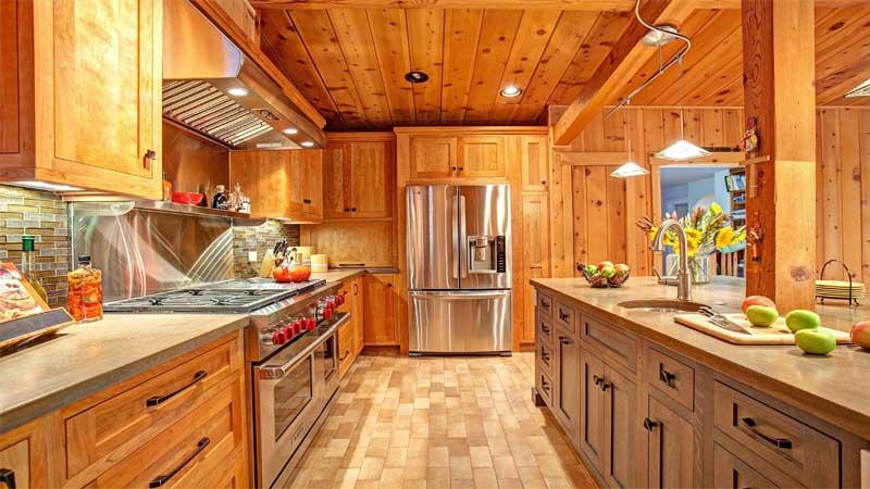 desain dapur alami menggunakan lambersering