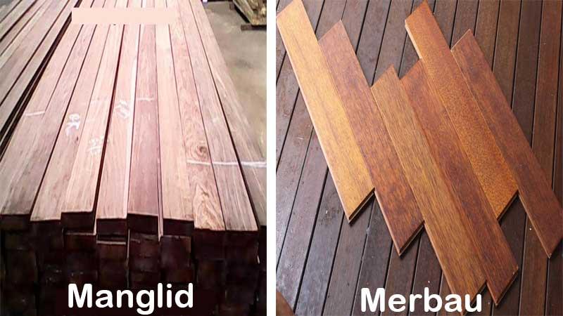 perbedaan kayu manglid dengan merbau