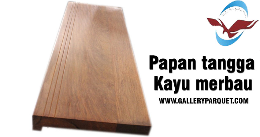jual papan tangga kayu merbau