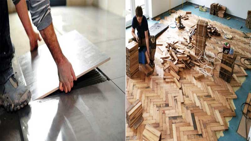 perbedaan pemasangan lantai kayu dengan lantai keramik