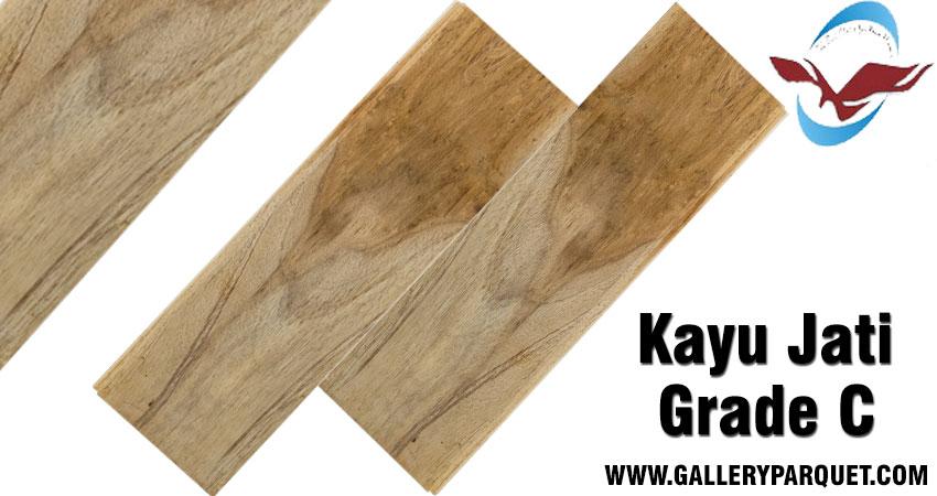 Harga lantai kayu jati grade c