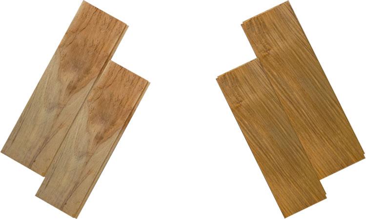 Perbandingan karakteristik kayu jati perhutani dan kayu jati kampung