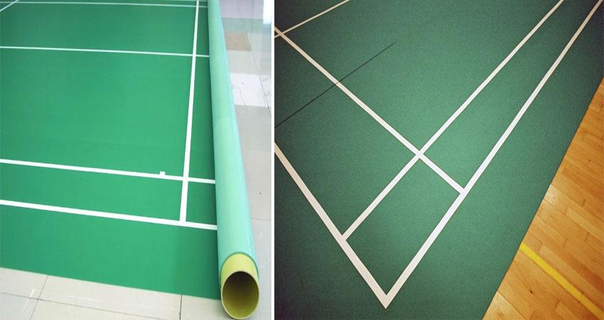 lantai karpet badminton