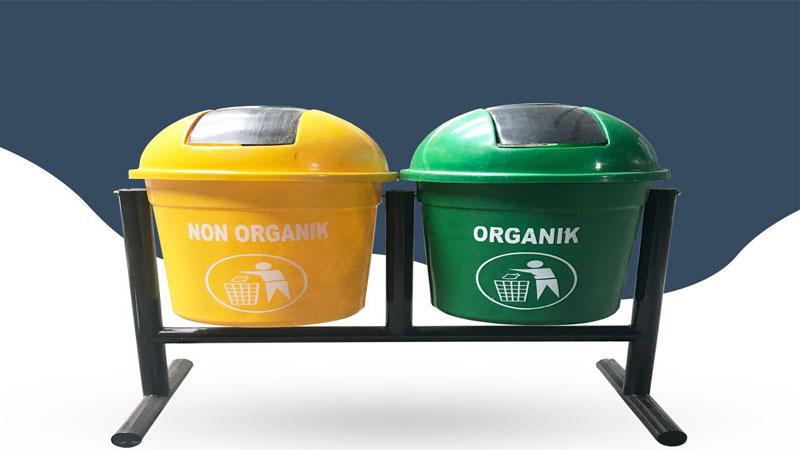 tempat sampah organik dan anorganik