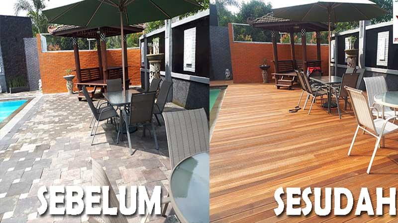 desain samping kolam renang minimalis