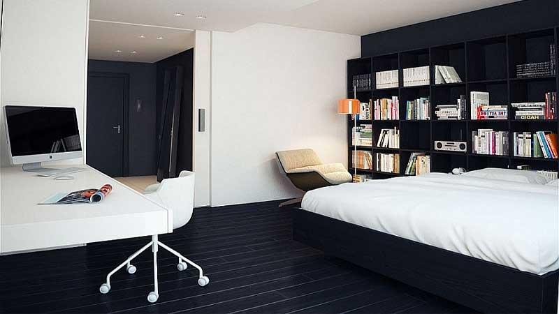 desain kamar tidur 2 warna