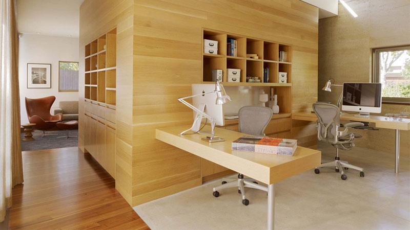 wood floor in office