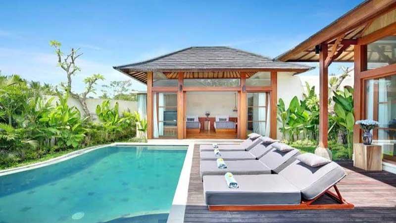 membuat tampilan visual  villa menjadi lebih alami