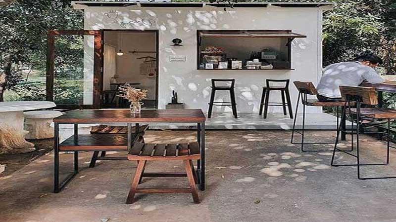 desain cafe outdoor minimalis modern