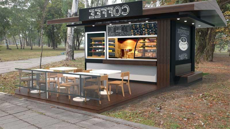 sebuah konsep sederhana pada cafe outdoor kekinian