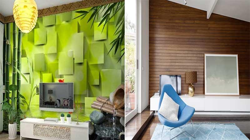 tampilan wallpaper dinding dan lambersering sama-sama bagus