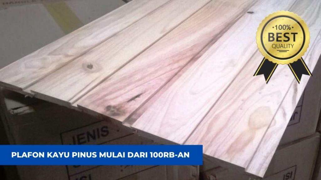 plafon kayu pinus