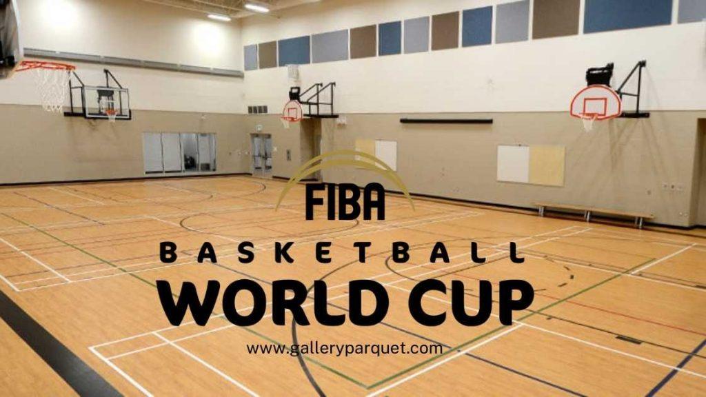 Vinyl lapangan basket dengan standar FIBA